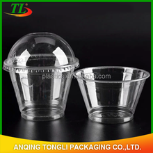 wholesale disposable plastic PP/PET yogurt cup with lid