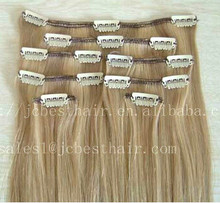 Best Selling Hair Products in Europe Market Private Label Brazilian Human Hair Clip in Hair Extensions