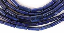 Natural Lapis Lazuli 4mm x 12mm Tube Beads..