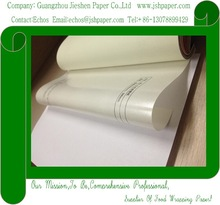 100g vci yellow poly coated kraft paper in white color