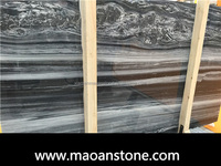 Newest Engineered China Wooden Marble/ Wave Spray Marble Slab 2cm