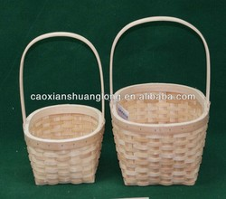 new designed environmental inexpensive wood woven fruit baskets for wholesale