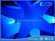 low price inflatable decorating led star/inflatable light star/lighting inflatable star