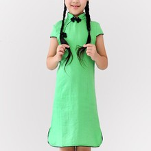 Wholesale Brand Name Kids Clothes Chinese Kids Clothes And Elegant Dress Traditional Children Clothes Children Cheongsams