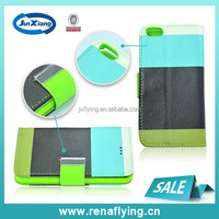 PU leather holster with card slot wallet cover for iphone5