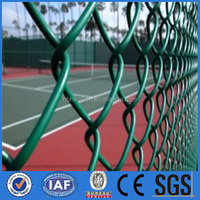 chain link mesh for the basketball court/ cheap chain link fencing weave mesh (Factory)