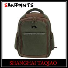 Durable leather school backpack bag for waterproof