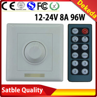 Factory wholesale DC12-24V 8A 96W 12 keys IR Led dimmer pwm led dimmer