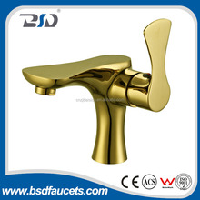 High quality luxury single-lever brass family faucet golden
