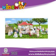 2015 plastic children toy doll house plastic toy house, plastic mini toy doll house furniture, dollhouse miniature
