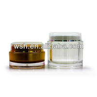 Round 200ml Acrylic Clear Plastic Cylinder Container