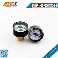 "YZ-25D high quality 25mm 1"" 30 inhg mini vacuum pressure gauge"