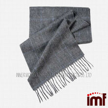 Checked Men Gentle Knit Scottish Cashmere Scarf Pattern