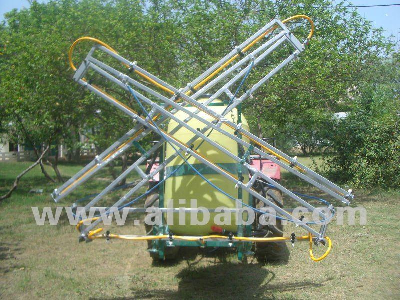 Trator montado pulverizador - 3 ponto de ligação com dobrável BOOM de 6 metro