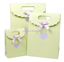 2015 fashion thank you paper bag/ promotional gift/ leather wine bag carrier