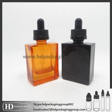 HD sqaure glass bottle childproof cap Empty e liquid glass bottle wholesale cosmetic bottle STOCK 48 hours delivery