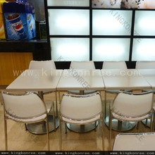 Customized stone food court table, japanese dining table