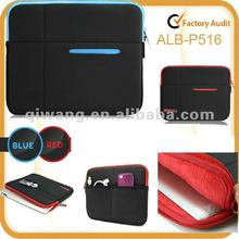 New design organized neoprene laptop sleeve for ipad and accessories