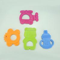 Funny animal design TPE teether/ plastic teether/ teething ring