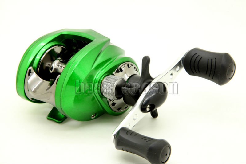green right handed 7bb 6.3:1 baitcasting fishing reel bait casting, Fishing Reels
