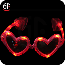 Christmas Party Favor Funny Flashing Heart Shaped Glasses For Girls