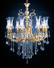 home decor glass chandelier wireless remote control chandelier made in china