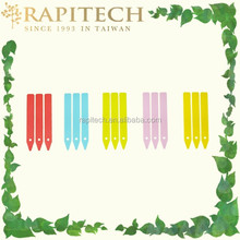 4 Inch Gardening Plastic Assorted Colored Pointed Plant Tag