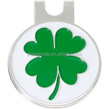 2015 Lukcy Clover unique cheap golf hat clips with cartoon for golf equipment