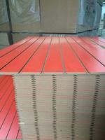 18mm slotwall MDF Aluminum grooved MDF board MDF slotwall board