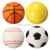 Hot Hand Wrist Exercise Stress Relief Squeeze Soft Foam Ball vollyball/baseball/Basketball/Football Gift Toy Fitness Balls