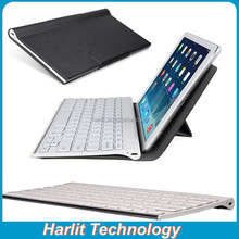 QWERTY Keyboard With Leather Cover For Surface, Folding Leather Case Bluetooth Keyboard For Windows Surface