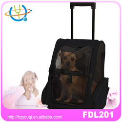 fabric pet backpack with wheel