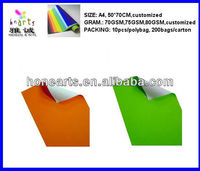 Adhesive Poster Paper A4 Sheets for Craft