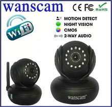 JW0005 Indoor Wifi Wireless PC Camera Pan Tilt Dual Audio SD Memoire Card Recorder IP Camera