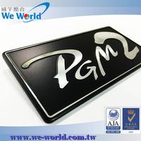 Typical style self adhesive diamond cut aluminum home appliance logos