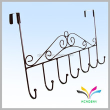 Sturdy black powder coated metal wire suction cup towel rack