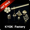 KYOK elegant multicolor crystal finial curtain rod price , curtain rod wholesale for Russia market
