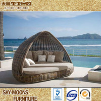Leisure ways Awl Shape Garden bed, Beach Bed Rattan Furniture Outdoor(L059)