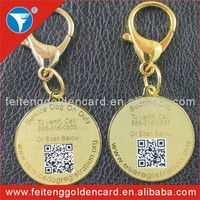 silver / gold custom ID tag products wholesale,metal pet ID tag qr code pet ID tag with engraved logo