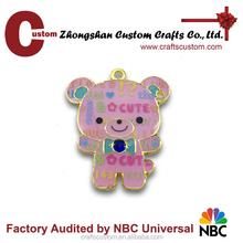 Custom teddy bear keychain/metal keyring