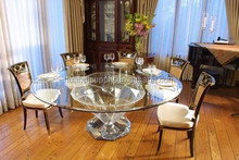 Noble diamond-shape dining table and chairs Acrylic furniture set