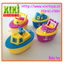 10Cm new design cute toys for kids mini plastic toy ships
