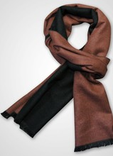 Hot selling high quality men silk brushed double side scarf