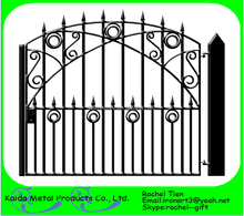 single wrought iron silding/swing gate/door pictures