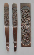 Bronze cosmetic tweezers TW198