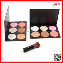 YASHI 6 colors eyeshadow waterproof eye shadow palette with slim powder professional makeup