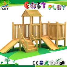 2015 durable rose wood,wooden play slide, children play house
