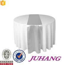 Luxurious Fancy Wedding decoration 100% White Polyester round Hotel Table Cloth JH-Y5