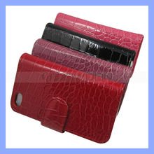 Credit Card Wallet Case For iPhone 5G Croco Case PU Leather Case Cover For iPhone 5