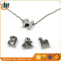 Charm Stainless steel alphabet letter pendants for women